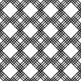 Nahtloses ethnisches Schwarzweiss-Muster Stockfotografie