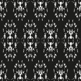 Nahtloses ethnisches Schwarzweiss-Muster Stockfotos