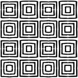 Nahtloses ethnisches Schwarzweiss-Muster Lizenzfreie Stockbilder