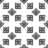 Nahtloses ethnisches Schwarzweiss-Muster Lizenzfreie Stockfotos