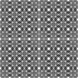 Nahtloses ethnisches Schwarzweiss-Muster Stockfoto