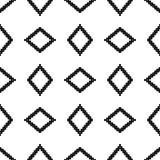 Nahtloses ethnisches Schwarzweiss-Muster Stockbilder