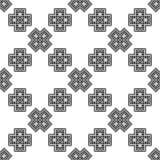 Nahtloses ethnisches Schwarzweiss-Muster Lizenzfreies Stockbild