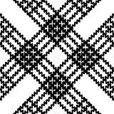 Nahtloses ethnisches Schwarzweiss-Muster Lizenzfreie Stockfotografie