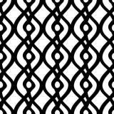 Nahtloses ethnisches Schwarzweiss-Muster stammes- Stockfotografie