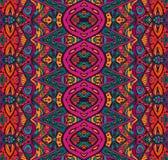 Nahtloses ethnisches Stammes- indianl geometrischer Druck Stockbilder
