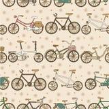 Nahtloses Fahrradmuster Stockbilder