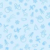 Nahtloses Farbe Muster des Weihnachten 2 Stockbild