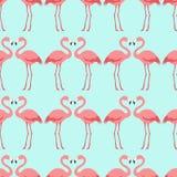 Nahtloses Flamingovogelmuster Lizenzfreie Stockbilder