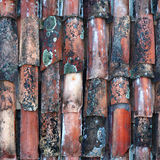 Nahtloses Fliesemuster der alten Keramikziegel Stockbild