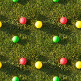 Nahtloses Fliesemuster der Grasfarbenkugeln Stockfotografie