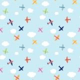 Nahtloses Flugzeugmuster Stockfoto