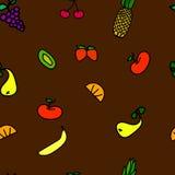 Nahtloses Frucht-Muster Stockfotos
