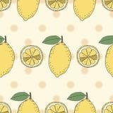 Nahtloses Fruchtmuster von Zitronen Stockfotos