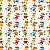 Nahtloses Fußballspielermuster Stockfoto