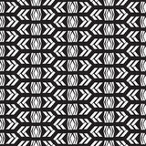 Nahtloses gebürtiges Muster im Schwarzweiss-Hintergrund Stockfotos