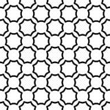 Nahtloses gebogenes Achteckschwarzweiss-muster Stockbilder