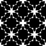 Nahtloses gebogenes Schwarzweiss-Muster lizenzfreies stockfoto