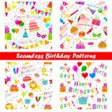 Nahtloses Geburtstags-Muster Lizenzfreie Stockfotos