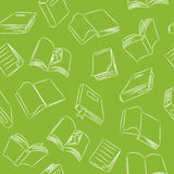 Nahtloses Gekritzel-Muster - Bücher Stockfoto