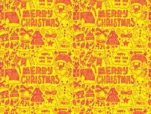 Nahtloses Gekritzel Weihnachtsmuster stock abbildung