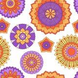 Nahtloses Gekritzelblumenmuster lizenzfreie abbildung