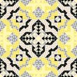 Nahtloses gelbes Dreieck des abstrakten Mustervektors Lizenzfreies Stockbild