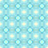 Nahtloses gelbes und cyan-blaues Kreismuster Lizenzfreies Stockbild