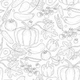 Nahtloses Gemüsemuster des Vektors Stockbild