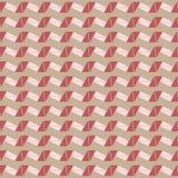Nahtloses Geometriebeschaffenheits-Zickzackmuster im braunen Hintergrund Stockfoto