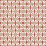 Nahtloses Geometrievektormuster im braunen Hintergrund Lizenzfreie Stockfotografie