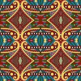 Nahtloses Geometrieweinlesemuster, ethnische Art Stockfotos
