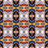 Nahtloses Geometrieweinlesemuster, ethnische Art Stockfotografie