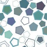 Nahtloses geometrisches Begriffshintergrundpentagonmuster für Design Segeltuch, digital, kreativ u. abstrakt lizenzfreie abbildung