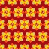 Nahtloses geometrisches buntes hübsches Blumenmuster lizenzfreie abbildung