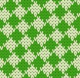 Nahtloses geometrisches gestricktes Muster Stockfotografie