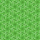 Nahtloses geometrisches grünes Muster Stockfotos