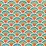 Nahtloses geometrisches Kreis-Hintergrund-Muster Stockfoto