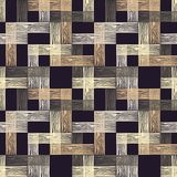 Nahtloses geometrisches Muster Boden mit hölzerner Beschaffenheit Gekritzelbeschaffenheit Stockbild