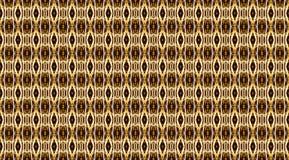 Nahtloses geometrisches Muster in den goldenen Farben auf einem schwarzen backgroun lizenzfreie abbildung