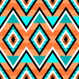 Nahtloses geometrisches Muster in der Art der amerikanischen Ureinwohner Ethnische moderne Verzierung stock abbildung
