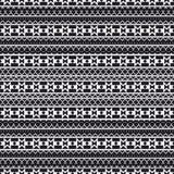 Nahtloses geometrisches Muster in der ethnischen Art Muster von Indianern Die Beschaffenheit der Abdeckung, Gewebe, Hintergrund,  vektor abbildung