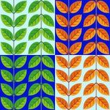 Nahtloses geometrisches Muster des Laubs Tag und Nacht Stockfotografie