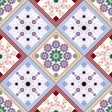Nahtloses geometrisches Muster, Diamanten und Quadrate mit einem ungewöhnlichen stock abbildung