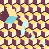 Nahtloses geometrisches Muster isometrisch Stockfotografie