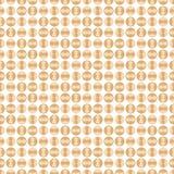 Nahtloses geometrisches Muster mit braunem Kreis Auch im corel abgehobenen Betrag Lizenzfreies Stockbild
