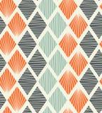 Nahtloses geometrisches Muster mit dekorativem Hintergrund der Rauten Lizenzfreie Stockfotos