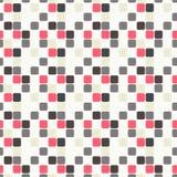 Nahtloses geometrisches Muster mit den rosa, hellblauen, violetten und grauen Quadraten vektor abbildung