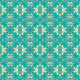 Nahtloses geometrisches Muster mit einfacher Linie und Formen, die exklusiven Blick schaffen vektor abbildung