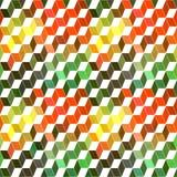 Nahtloses geometrisches Muster mit geometrischen Formen, Raute, Farbe Lizenzfreies Stockfoto